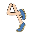Cartoon running legs vector image