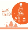Christmas Background on Hipsters Style vector image