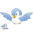 Cute Cartoon Bird vector image