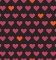 Different hearts shapes seamless pattern vector image