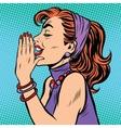 Gossip girl pop art vector image