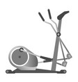 gym fitness equipment elliptical trainer exercise vector image