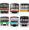Japanese Trains vector image