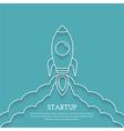Rocket Launch - Startup Concept vector image