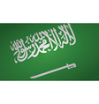 saudi arabia flag vector image