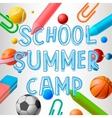School summer camp vector image
