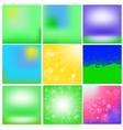 Set of Summer Blurred Backgrounds vector image