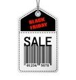 Vintage Black Friday sale tag vector image