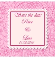 Wedding invitation flowers background pink vector image