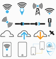 wireless internet network vector image