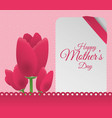 happy mothers day flowers decoration card vector image