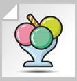 ice cream icons 5 vector image