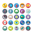 science and technology colored icons 8 vector image
