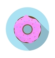 Flat Design Concept Doughnut with Icing With vector image