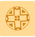 Celtic circular geometric pattern on a yellow back vector image