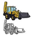 Excavator Loader vector image