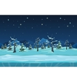 Seamless cartoon winter night landscape vector image vector image