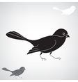 Black silhouette of a bird vector image