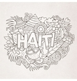 Haiti hand lettering and doodles elements and vector image