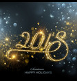 new year 2018 fireworks vector image