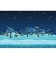 Seamless cartoon winter night landscape vector image