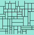 abstract squares pattern on a light blue vector image