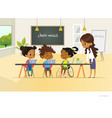 disabled african american girl and two other vector image vector image