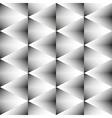 Geometric monochrome seamless pattern of rhombus vector image