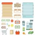 Supermarket Elements Set vector image vector image