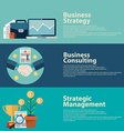 Business strategy consulting and management vector image