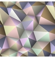 Colorful triangle seamless low-poly background vector image