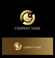 eye ball gold vision logo vector image
