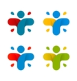 Isolated abstract colorful cross logo set Human vector image