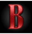 red plastic figure b vector image