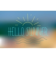summer background and hand lettering vector image