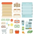 Supermarket Elements Set vector image