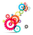 Transparent Colorful Wheals - Cogs - Gears on vector image