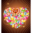 Heart splash and light vector image vector image