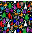 color black pattern vector image vector image