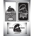 Business card template set Vintage steam train vector image