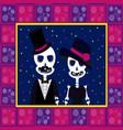 Skull couple dead vector image