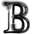 abstract font letter B vector image vector image