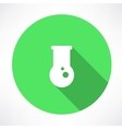 flask icon vector image