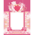 happy valentines day vintage card with cupids and vector image
