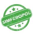 Simferopol green stamp vector image
