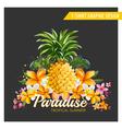 Geometric Pineapple Background vector image