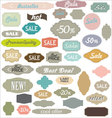 vintage sale labels vector image
