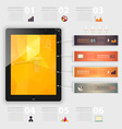 Infographic Template for Tablet vector image