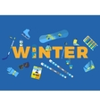 Abstract with word winter and icons vector image