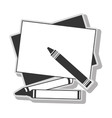crayols drawing art vector image
